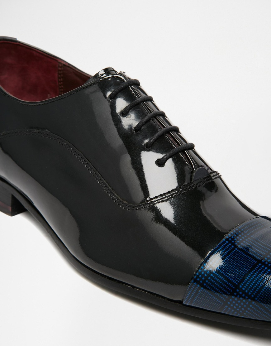 Archeey Patent Toe Cap Oxford Shoes