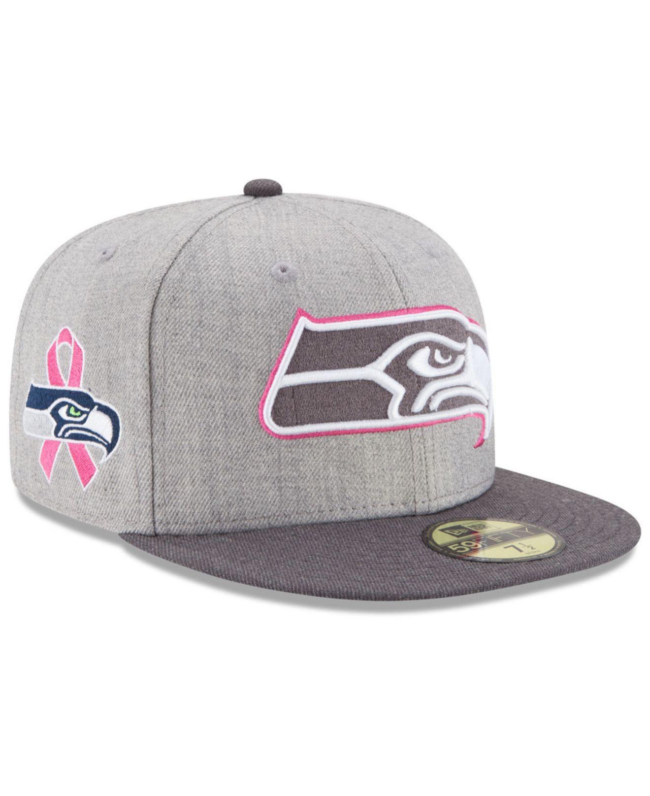 a0ca8ba1abe seahawk breast cancer hat