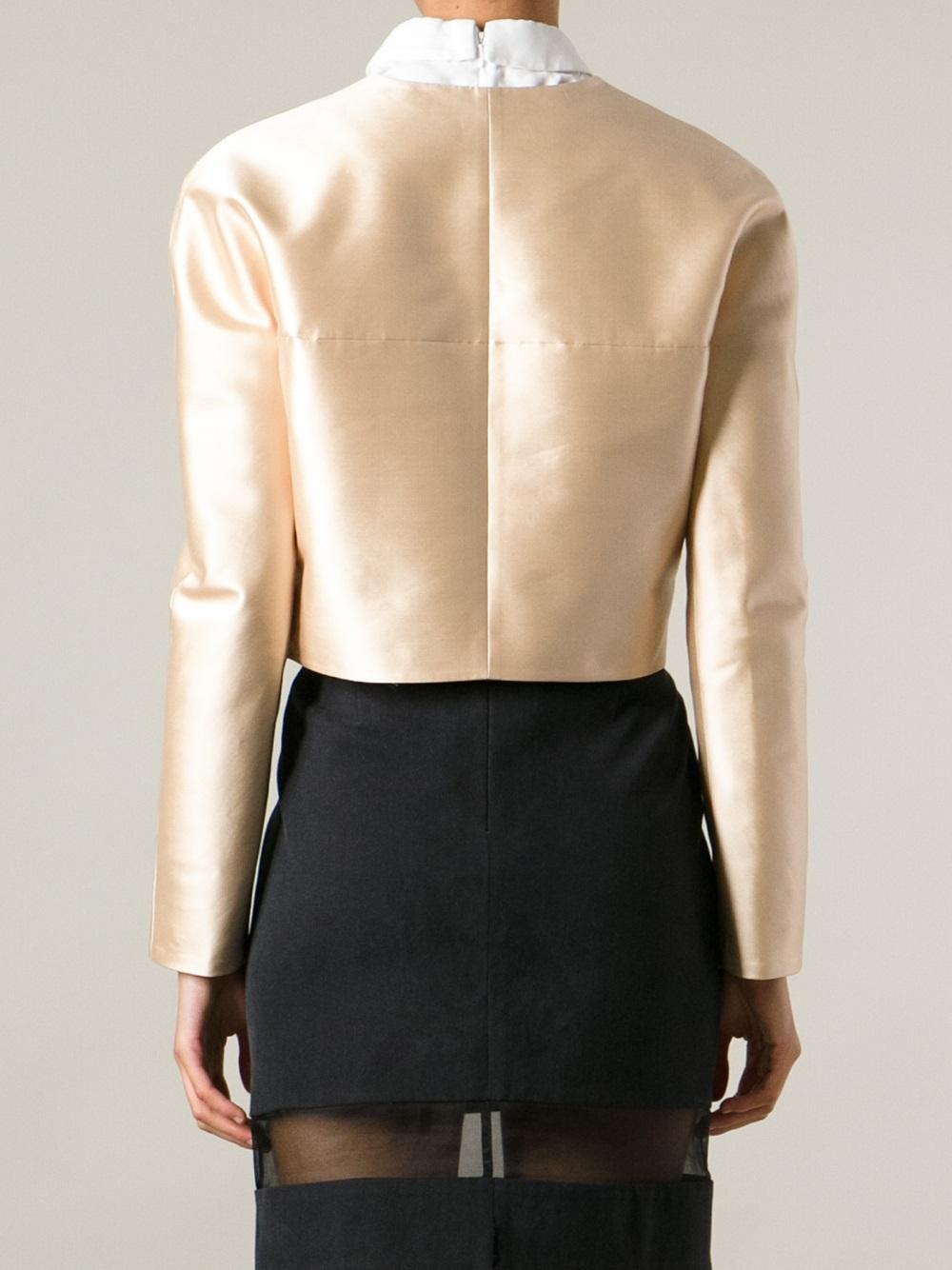 Carven Short Jacket in Natural | Lyst