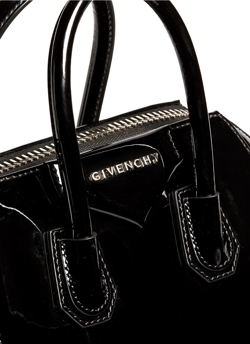 e8d2a072fed Lyst - Givenchy  antigona  Mini Patent Leather Bag in Black