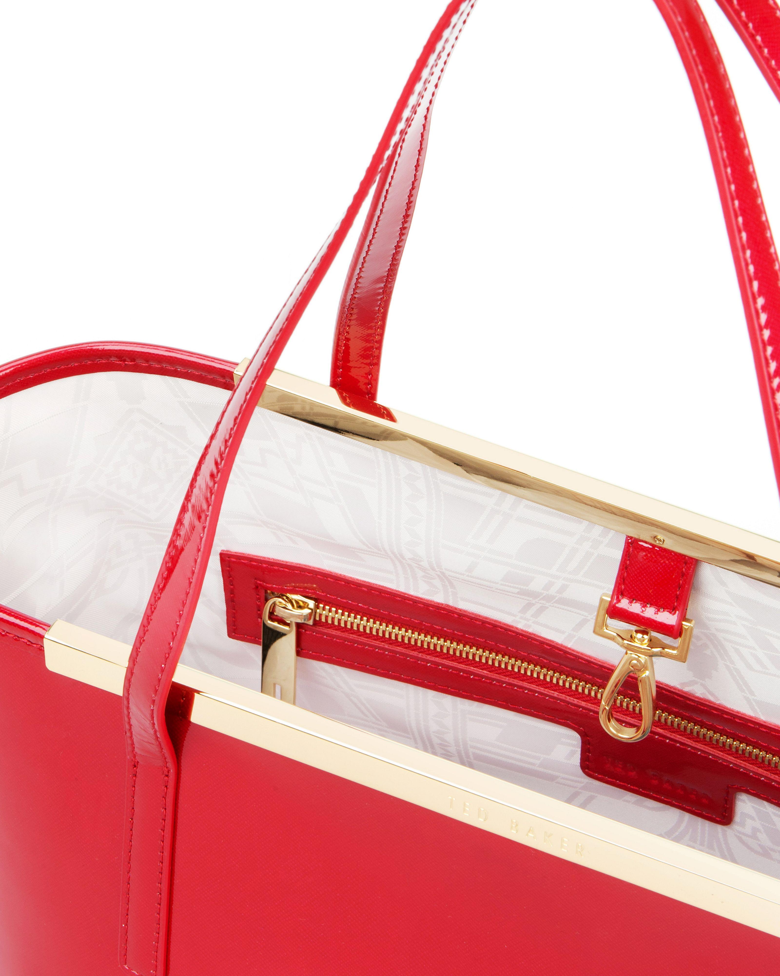 Ted Baker Kingey Crosshatch Shopper in Red