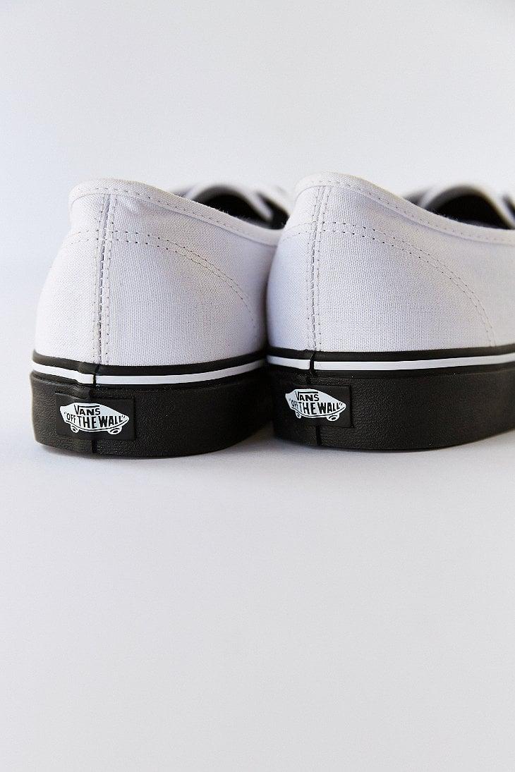 fd3c81ce9a4a60 Lyst - Vans Authentic Black Sole Men S Sneaker in White for Men