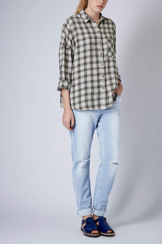 89bf4598f Oversized Plaid Shirt Topshop | Top Mode Depot