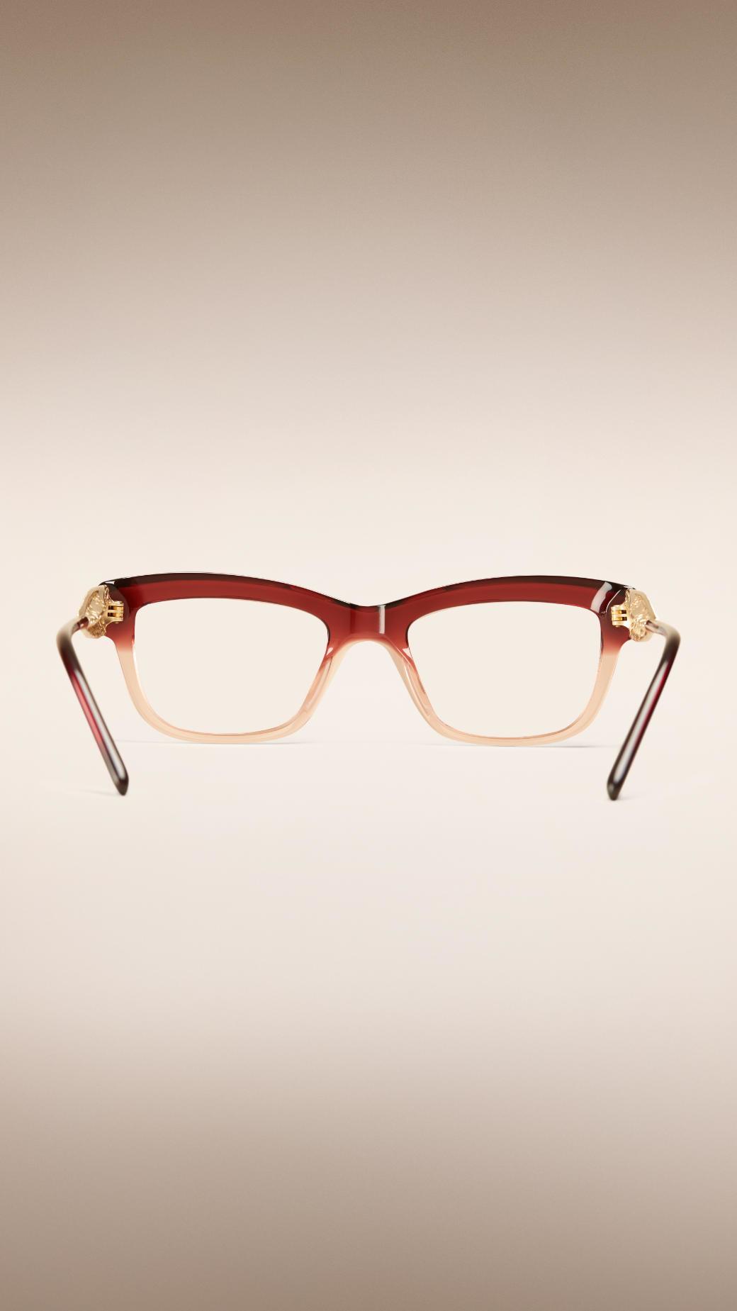 9f922b9e3f Burberry Gabardine Lace Collection Cat-eye Optical Frames Dark ...