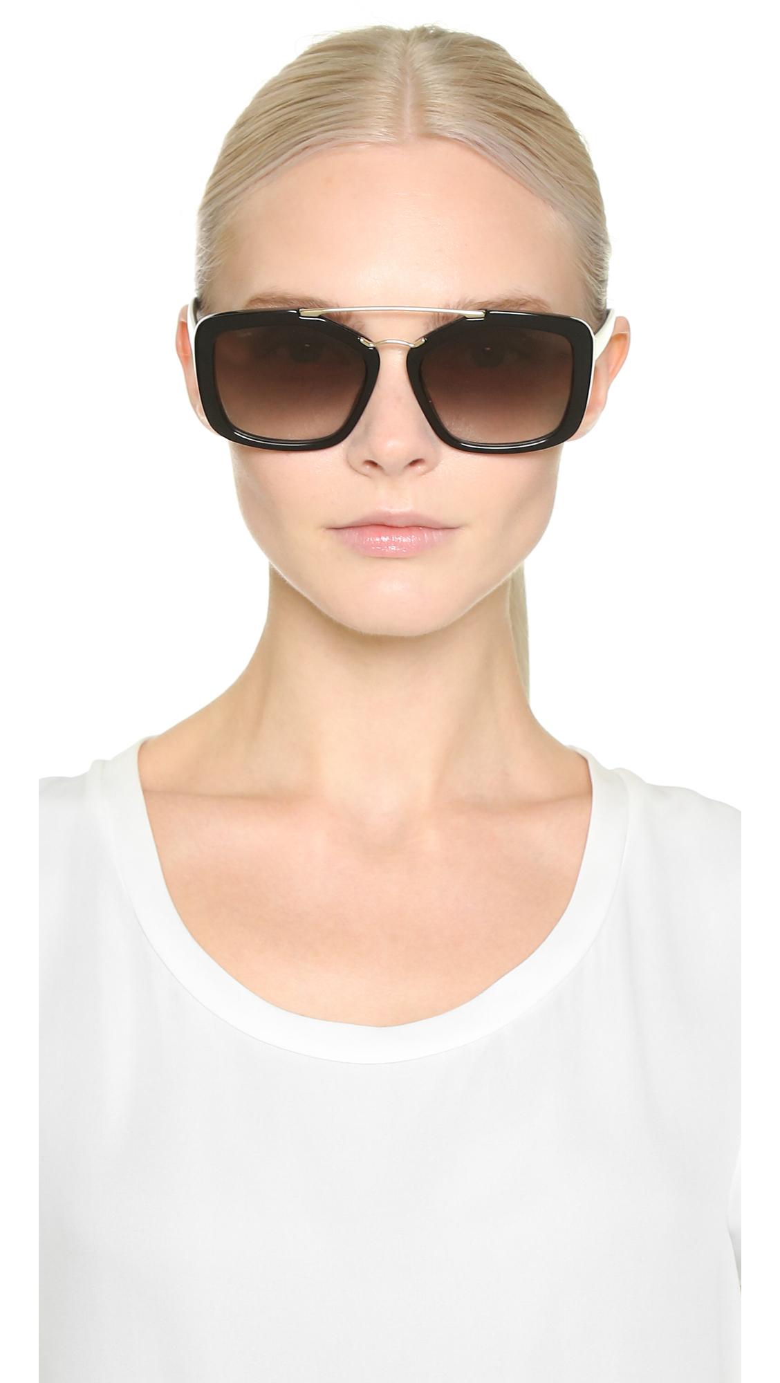 e6bbbbbe062 ... where can i buy norway lyst prada catwalk aviator sunglasses black grey  gradient in black 2523e