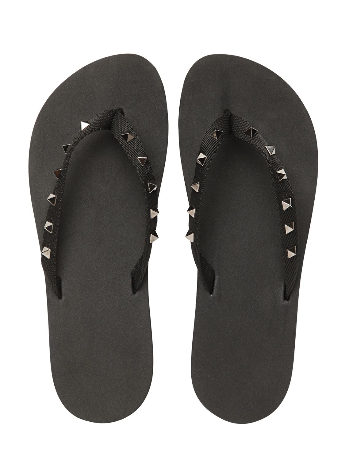 valentino studded rubber flip flops in black lyst. Black Bedroom Furniture Sets. Home Design Ideas