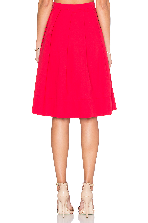 greylin tropez pleated midi skirt in pink lyst