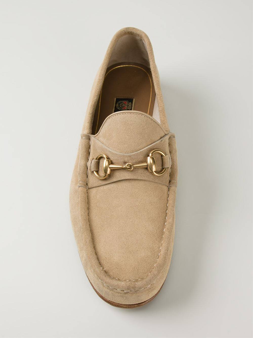 Gucci Leather Herbarium Print Loafer in Natural for Men - Lyst