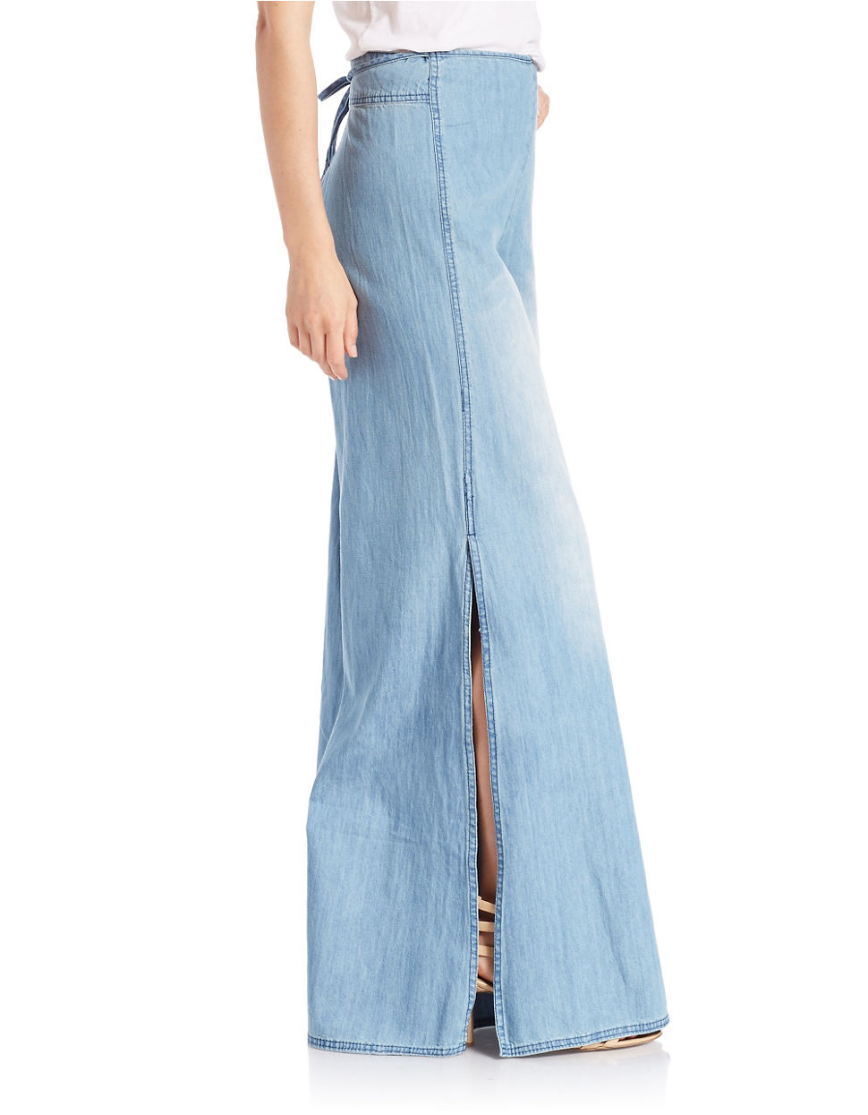 Free people Apron Elephant Bell-bottom Jeans- Back Town Blue in ...