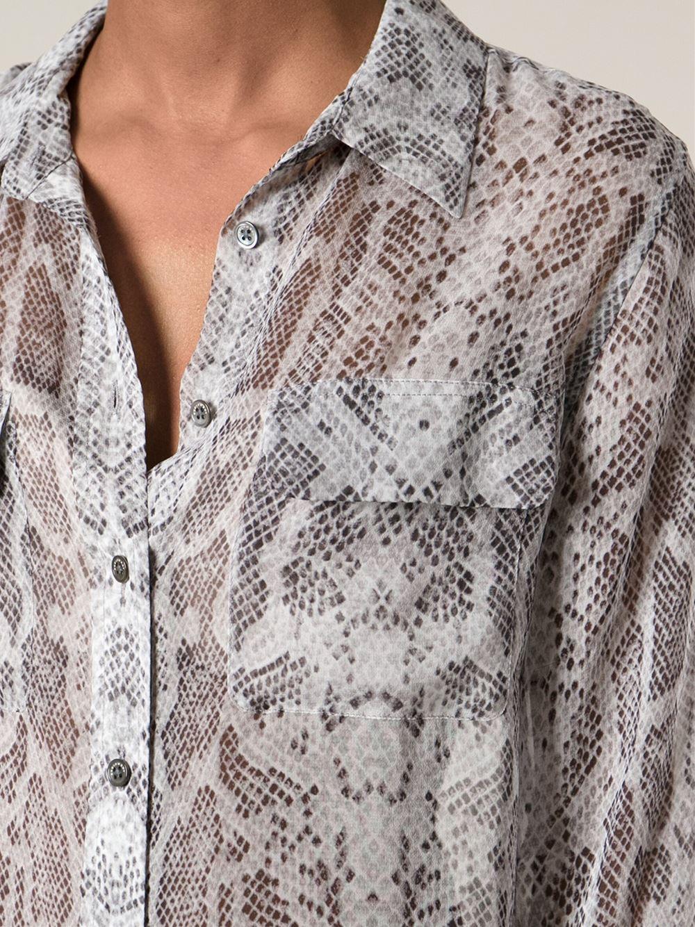 Gray Silk Blouse
