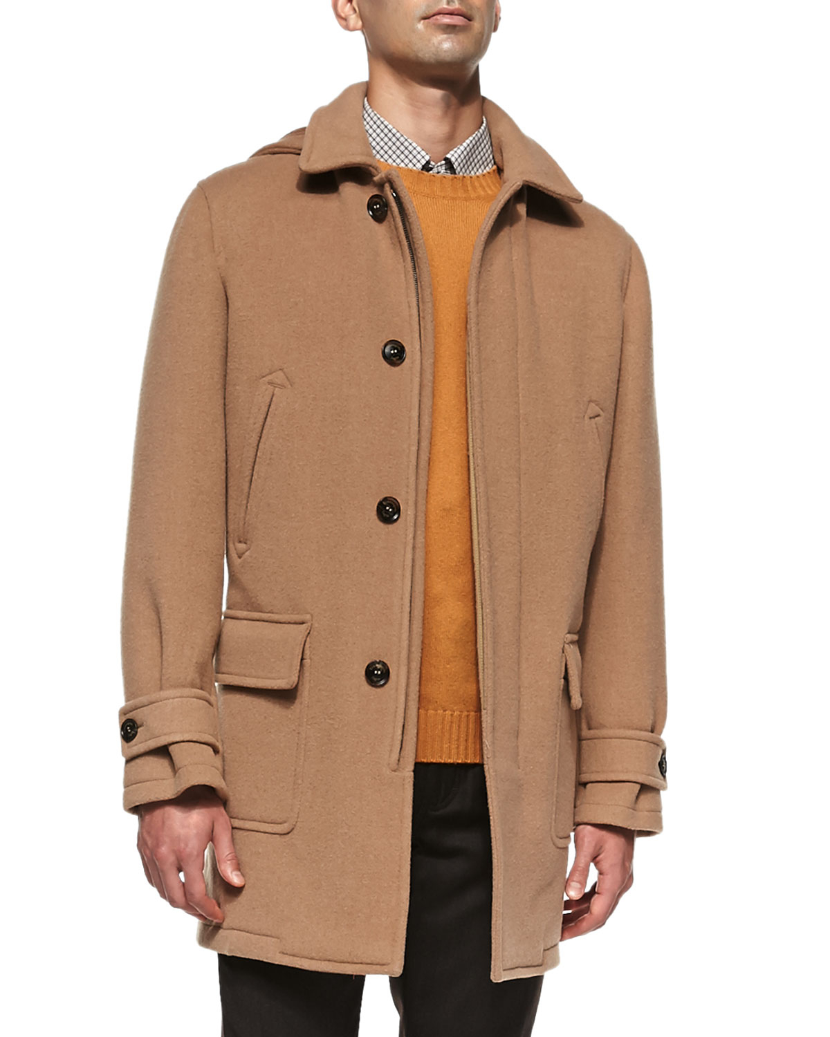 Ermenegildo zegna Wool/cashmere Mac Coat in Brown for Men | Lyst