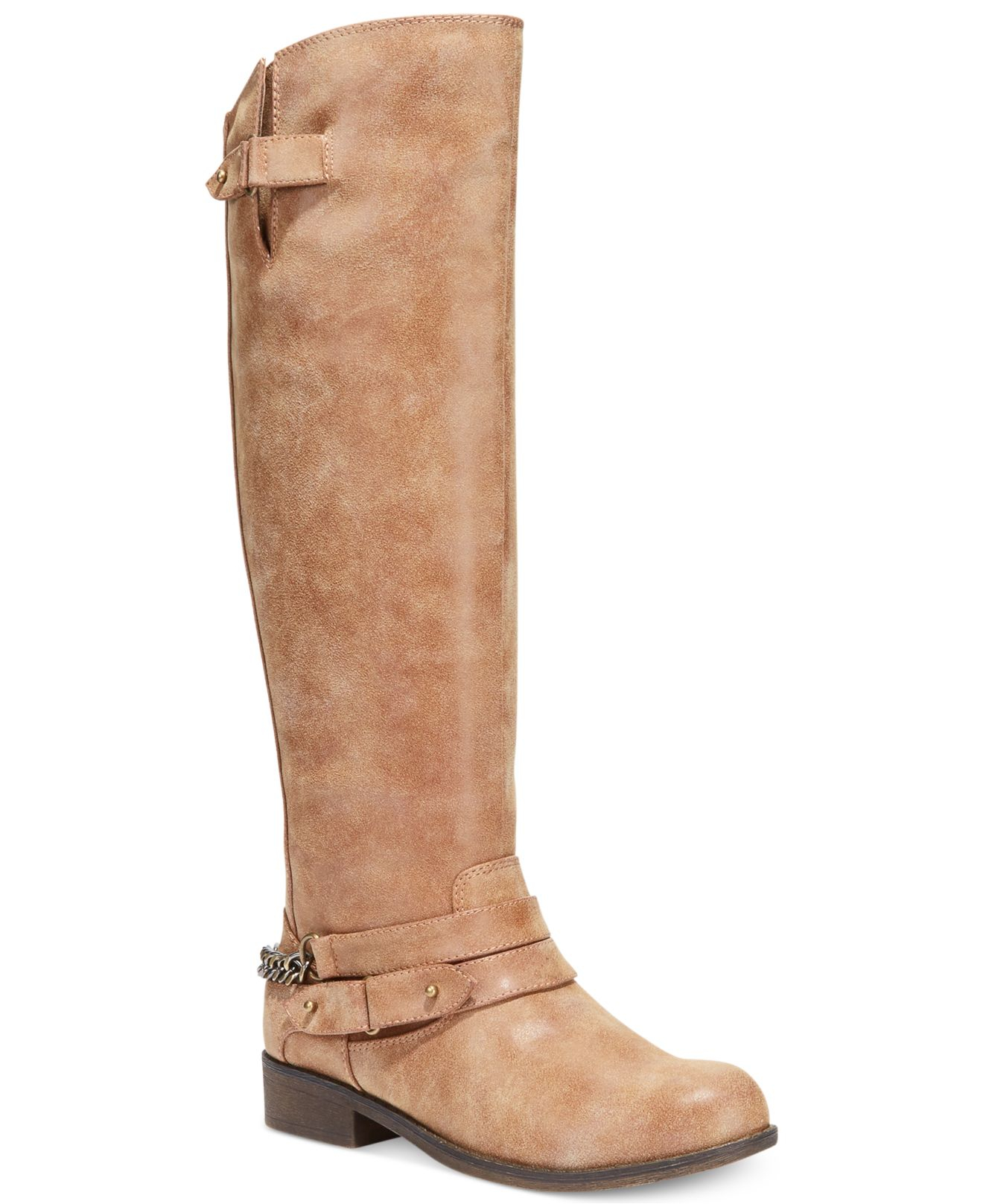 Lyst Madden Girl Caanyon Tall Shaft Riding Boots In Brown