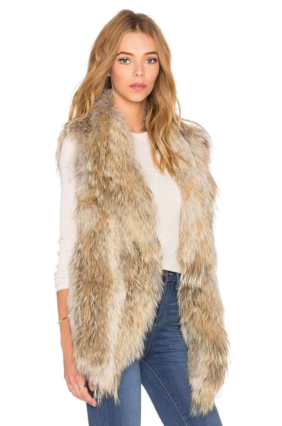 Lyst Ashley B Knitted Coyote Fur Vest In Natural Watermelon Wallpaper Rainbow Find Free HD for Desktop [freshlhys.tk]