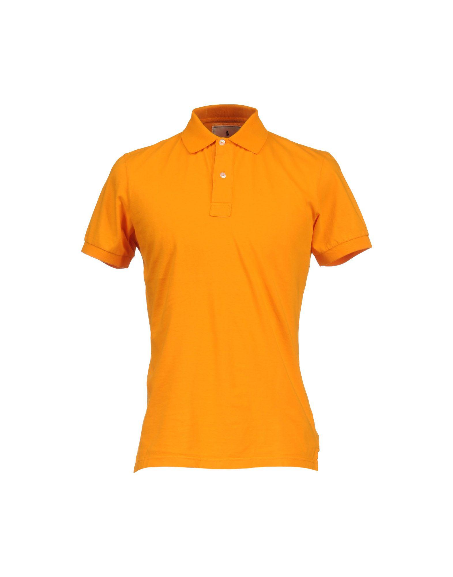 Alain polo shirt in orange for men lyst for Orange polo shirt mens