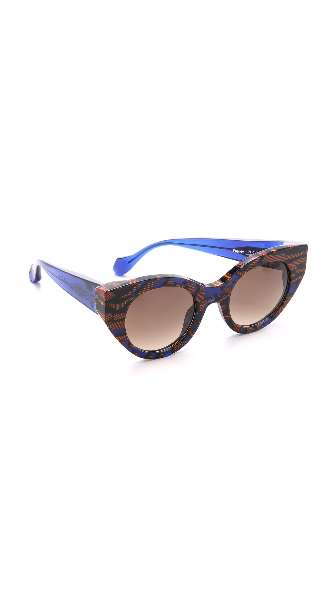 Fendi Thierry Lasry X Cat Eye Sunglasses - Blue Snake Multi/Brown