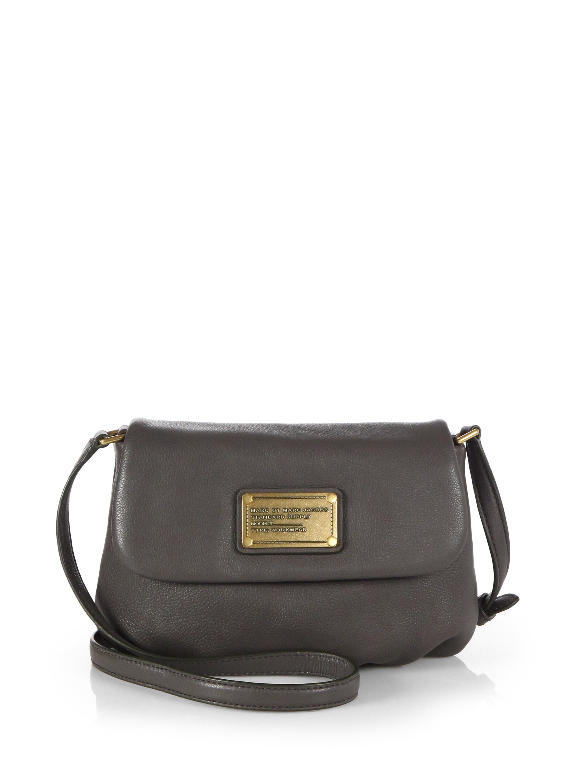f2837877c8c Marc By Marc Jacobs Classic Q Flap Percy Shoulder Bag in Gray - Lyst
