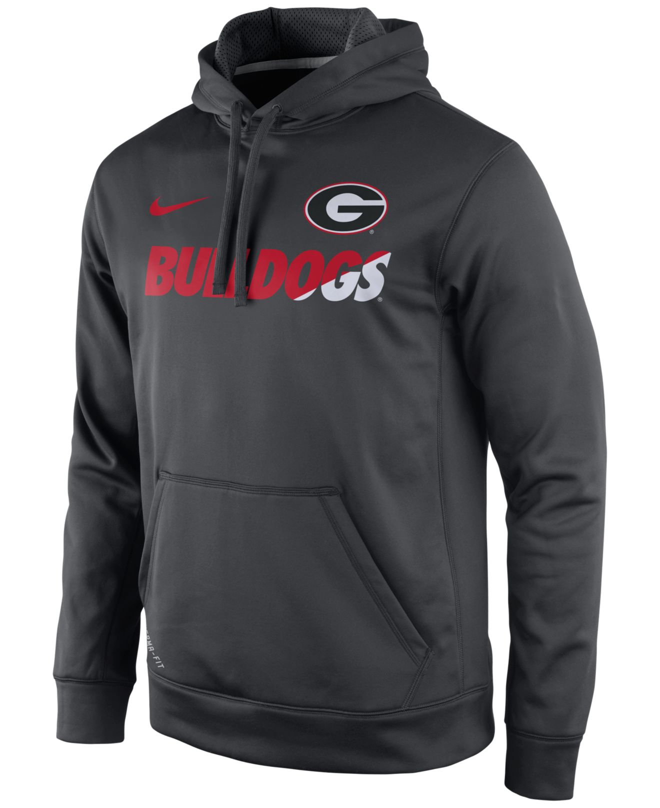 georgia bulldog hoodies nike men s georgia bulldogs sideline ko hoodie in gray for 7605