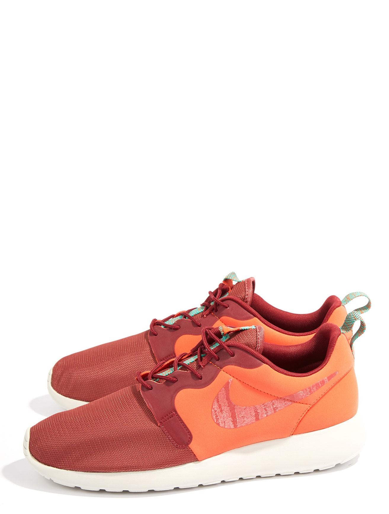 nike roshe run sneakers in orange for men lyst. Black Bedroom Furniture Sets. Home Design Ideas