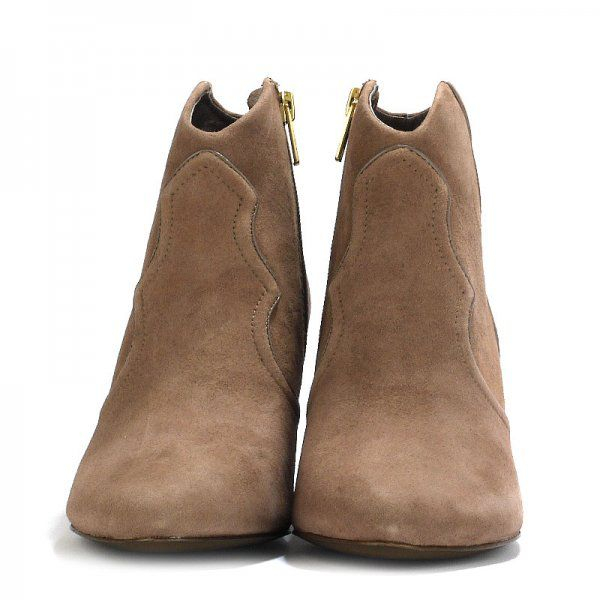 Ash Gang Suede Ankle Boots With Piping in Beige (Natural)