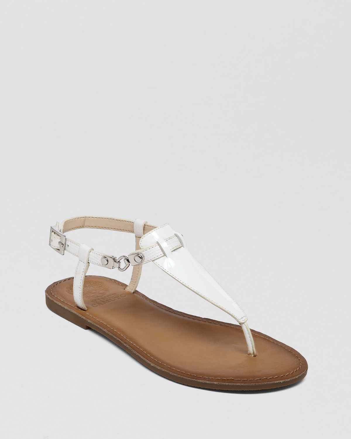 Vince Camuto Flat Thong Sandals Itelli Chain In White Lyst
