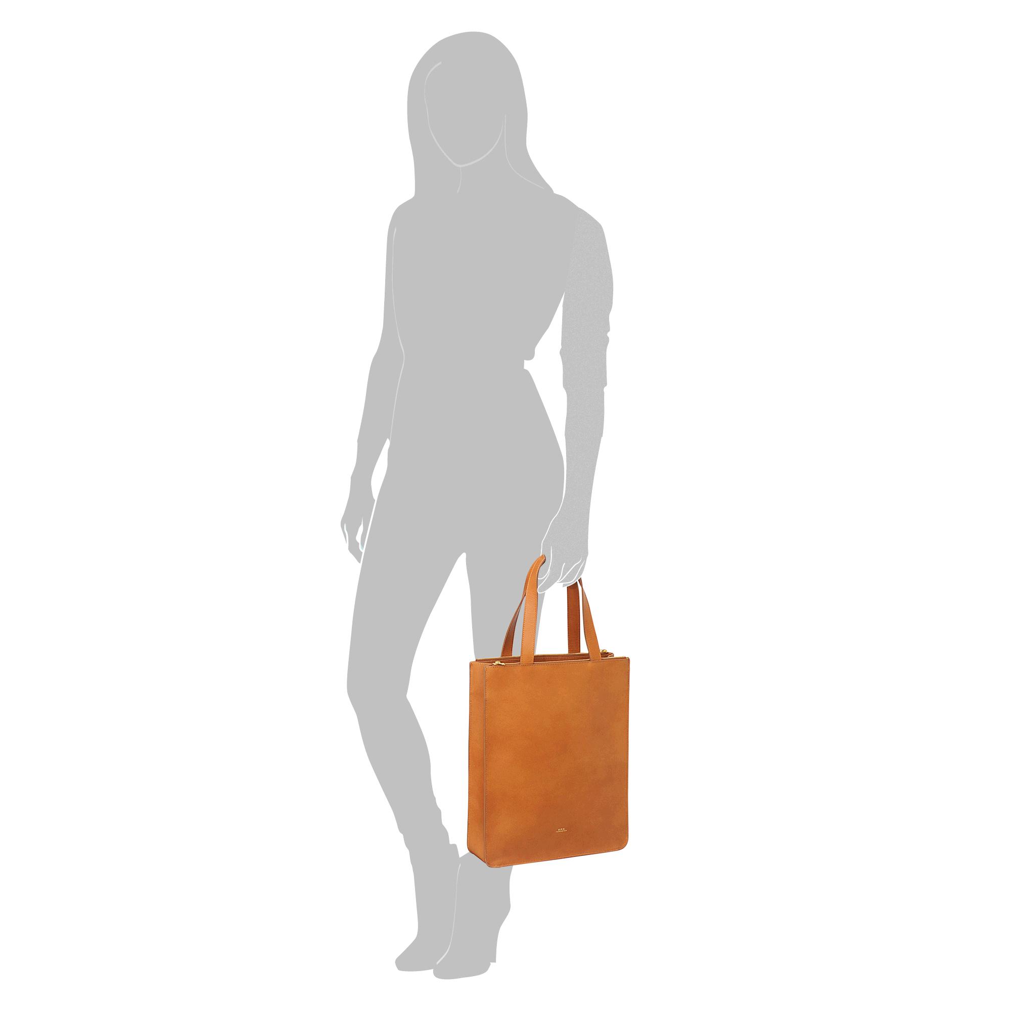 A.P.C. Julia Tote in Orange
