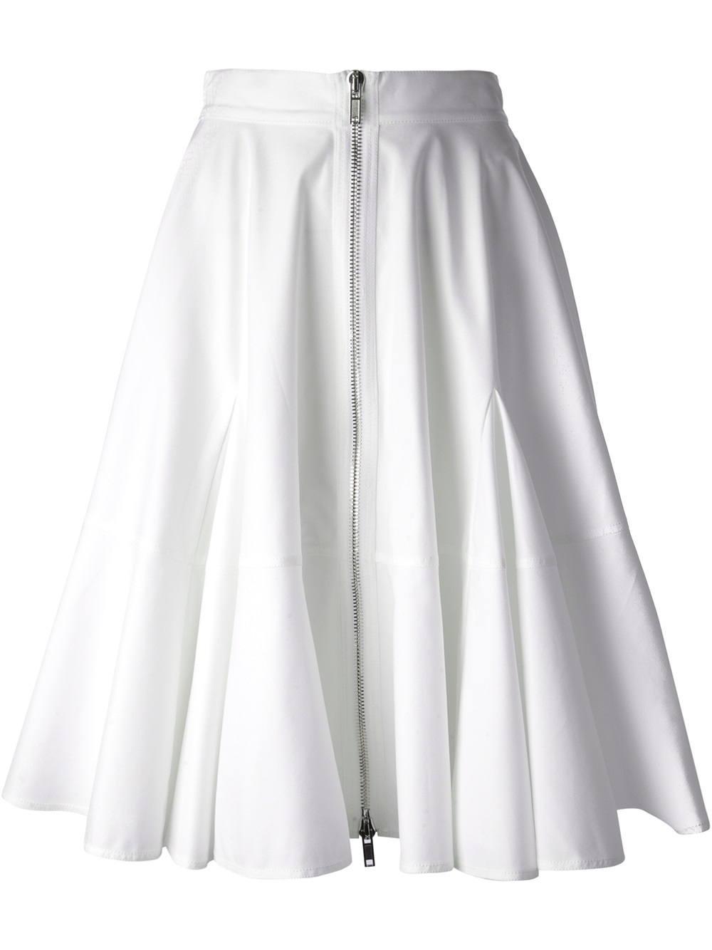 givenchy pleated skirt in white lyst