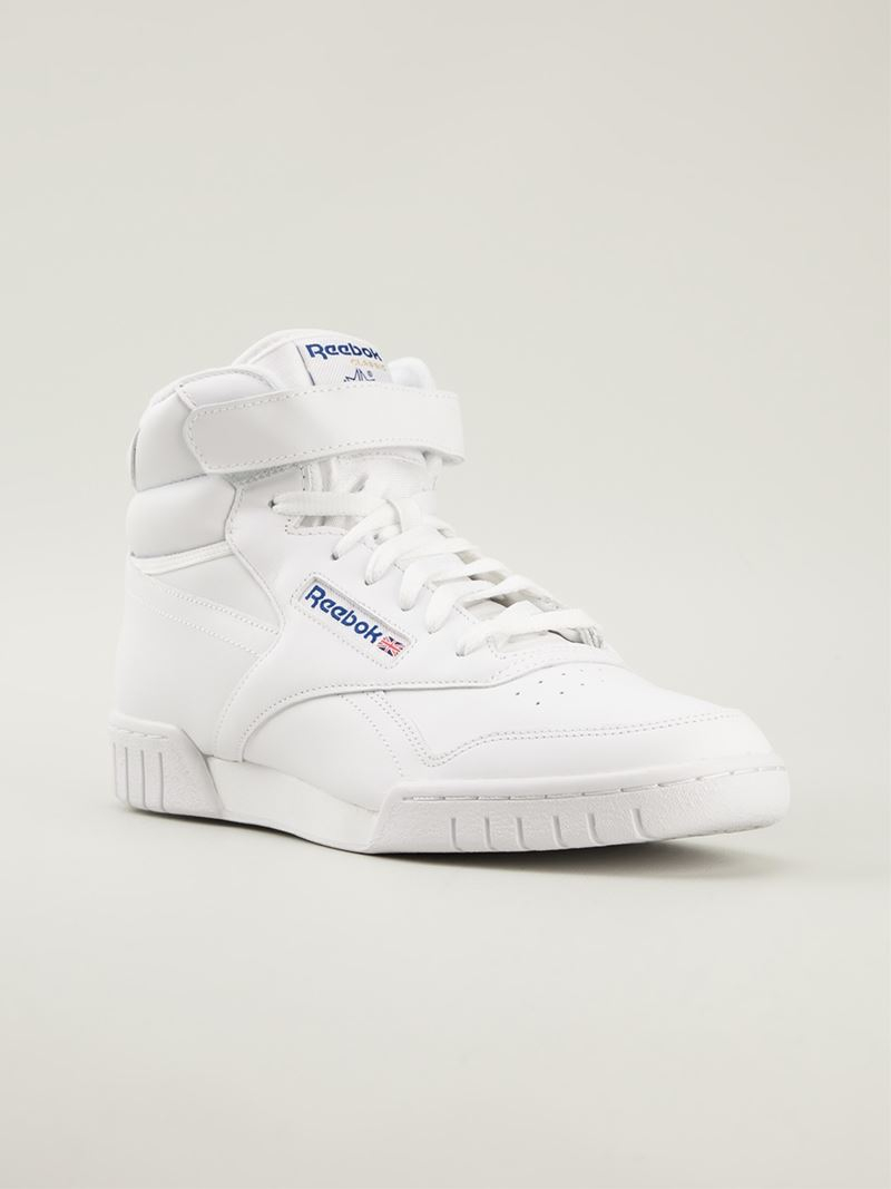 Lyst - Reebok  ex-o-fit  Hi-top Sneakers in White for Men d134b6531