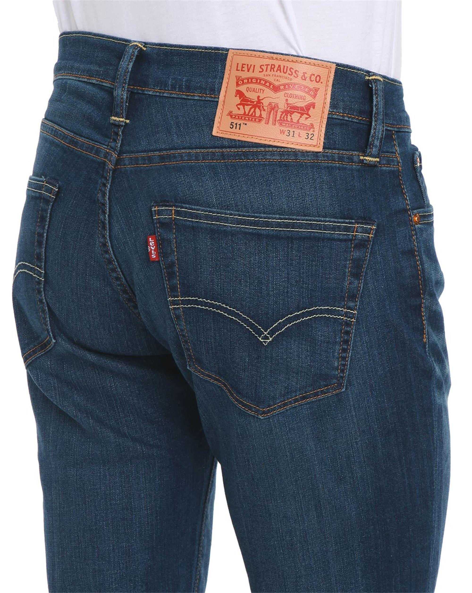 levi 39 s 511 slim fit stone washed jeans in blue for men lyst. Black Bedroom Furniture Sets. Home Design Ideas