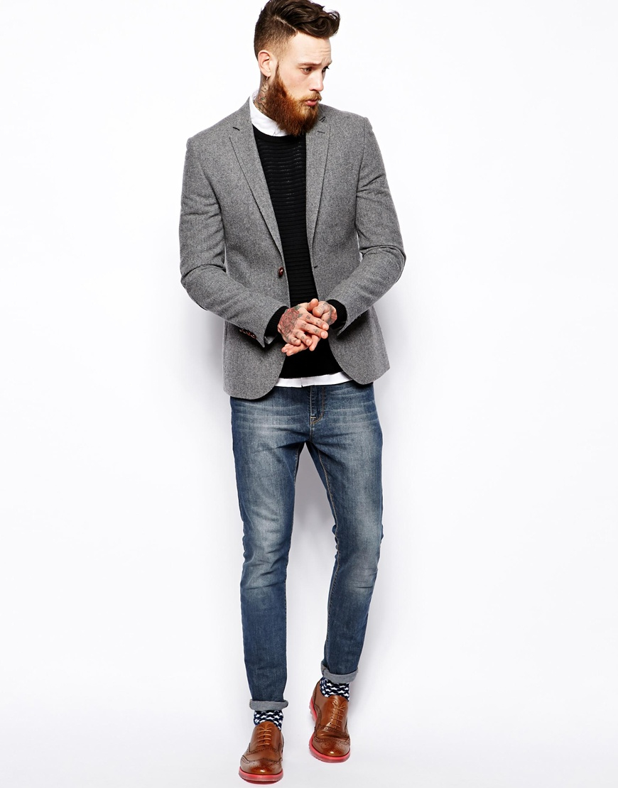 Men's Gray Grey Slim-fit Herringbone Wool And Cashmere-blend Blazer $ 1, From MR PORTER Price last checked 13 hours ago Product prices and availability are accurate as of the date/time indicated and are subject to change.
