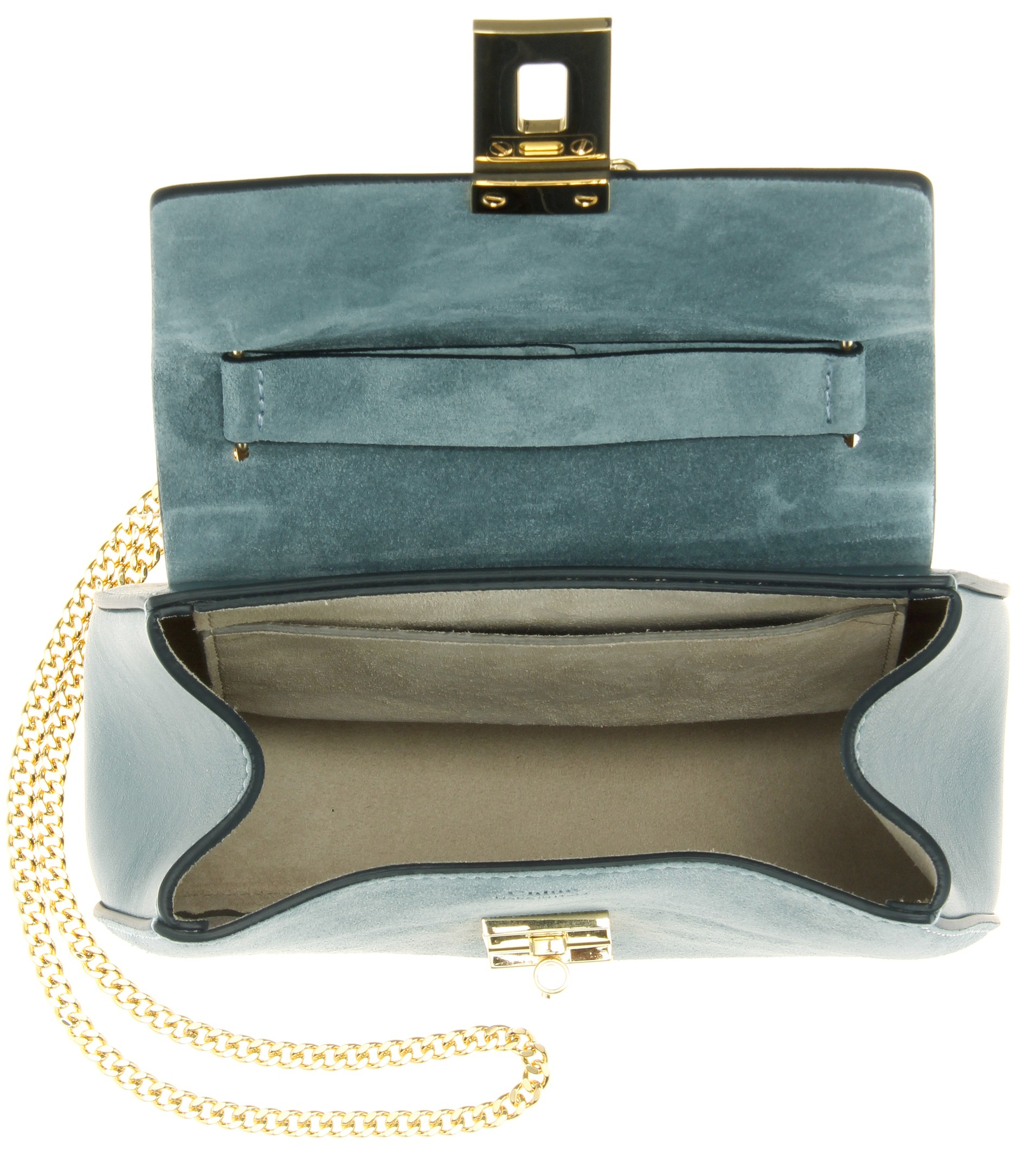 chloe fake handbags - Chlo�� Drew Leather And Suede Shoulder Bag in Blue | Lyst