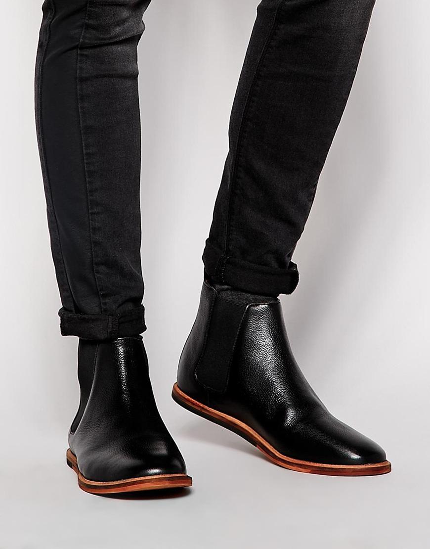 fcdf89f55b9 Frank Wright Black Burns Chelsea Boots for men