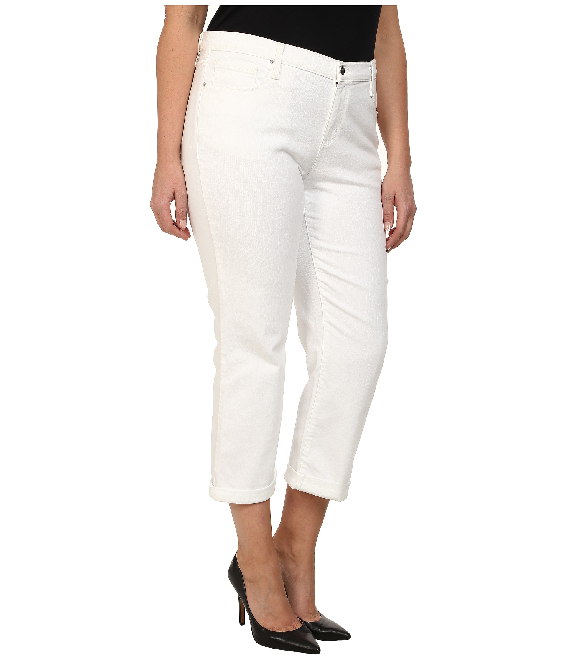 ASOS DESIGN Maternity Ridley high waist skinny jeans in white with under the bump waistband £ ASOS DESIGN Maternity Rivington with over the bump waistband in black cord.