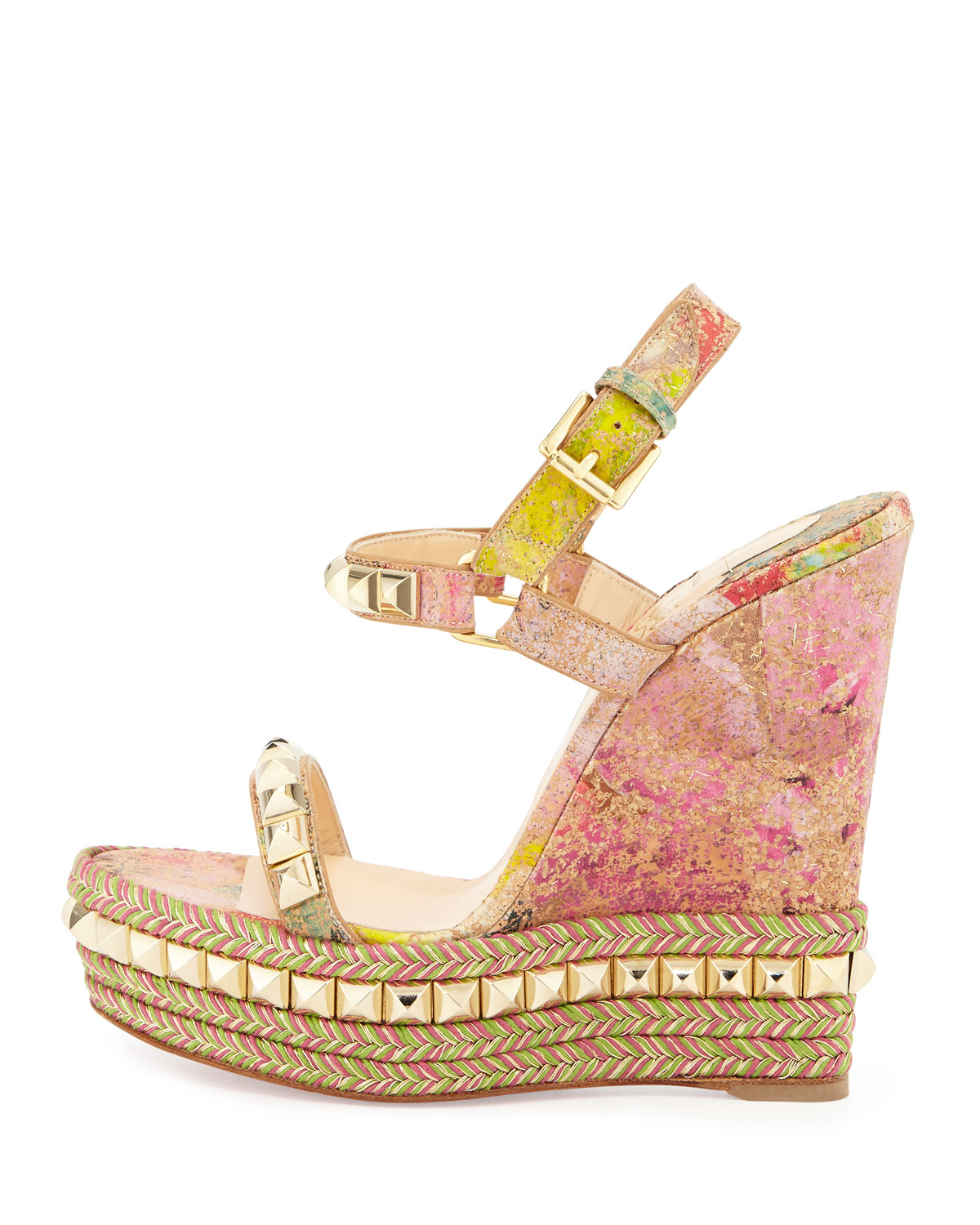 christian louboutin slide sandals Pink leather | cosmetics digital ...