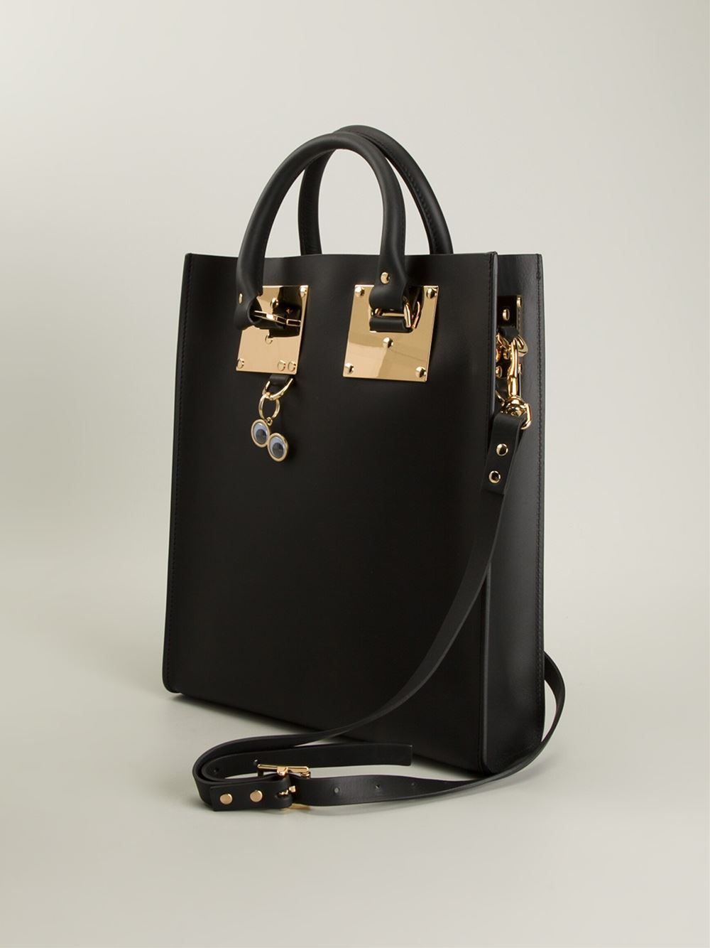 Sophie Hulme Rectangle Tote Bag in Black
