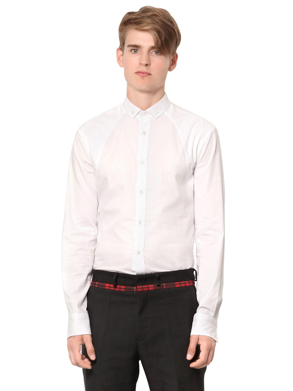 Mcq by alexander mcqueen button down oxford cotton shirt for White button down oxford shirt