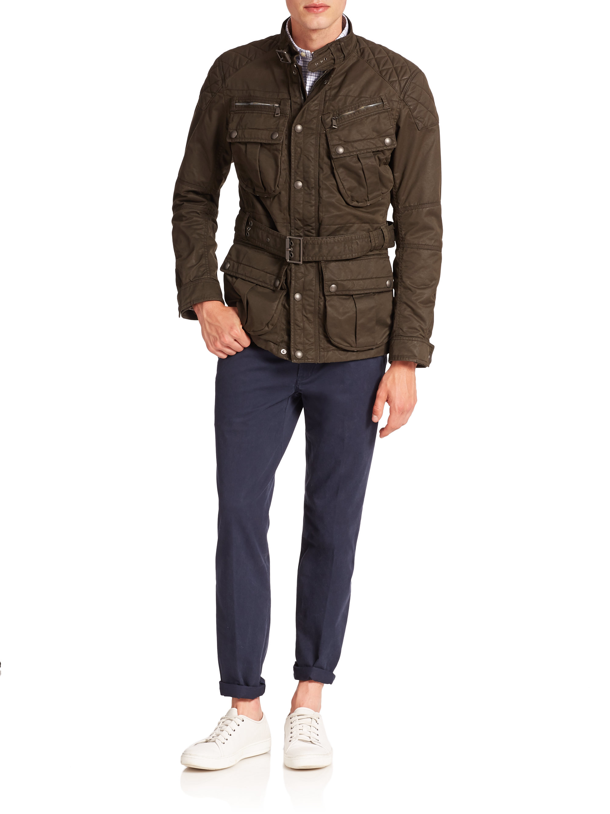 Polo Ralph Lauren Four Pocket Suspension Jacket In Brown