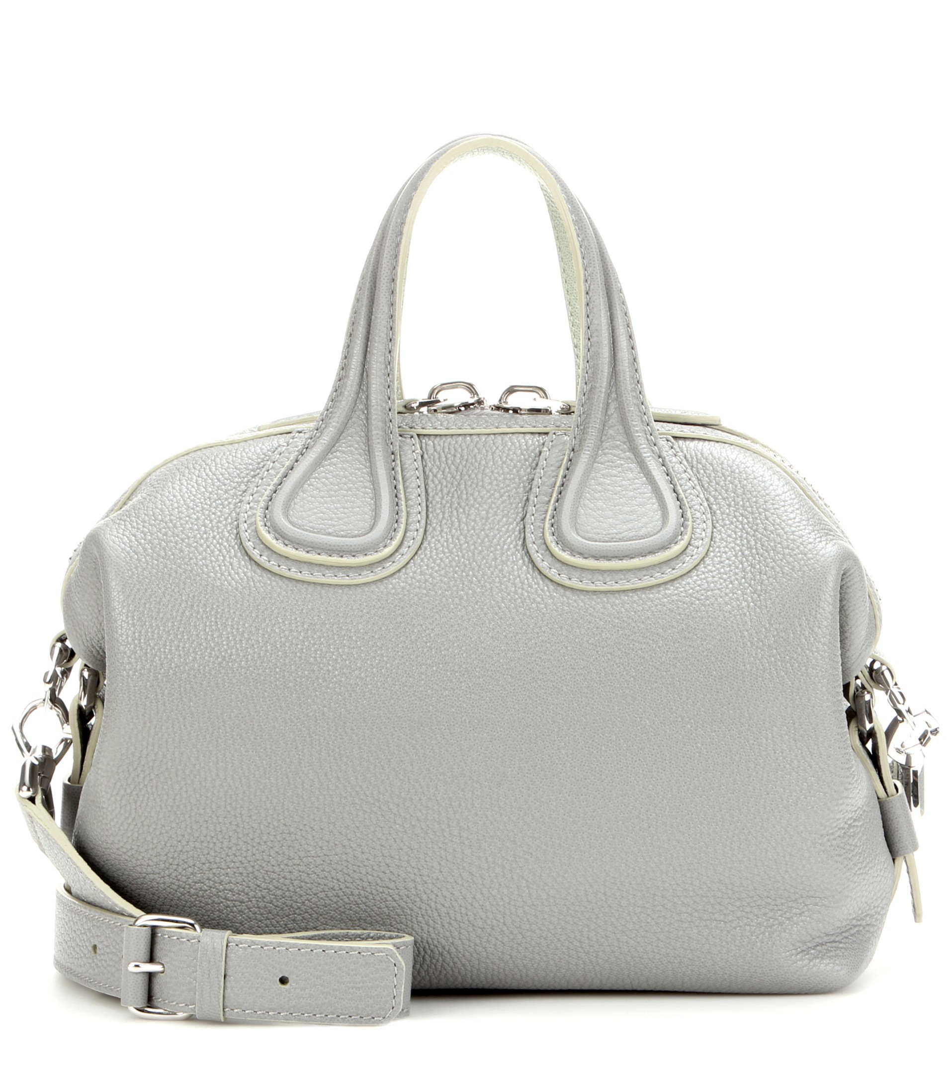 5ae142098f87 Lyst - Givenchy Nightingale Small Leather Tote in Gray