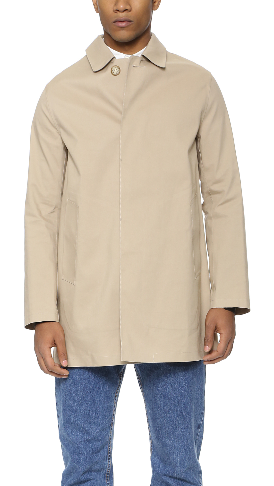 Mackintosh Cotton Dunoon Bonded Raincoat in Natural for ...