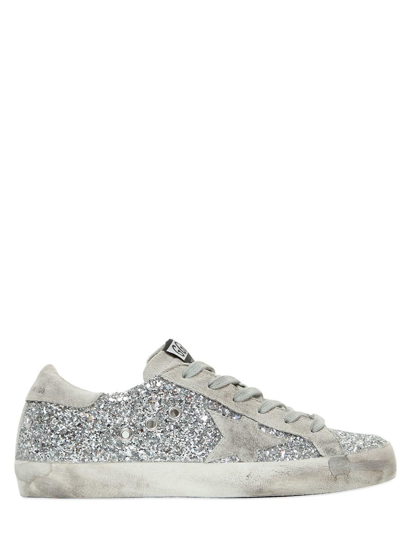 43e36c238 Golden Goose Deluxe Brand Super Star Glitter & Suede Sneakers in ...