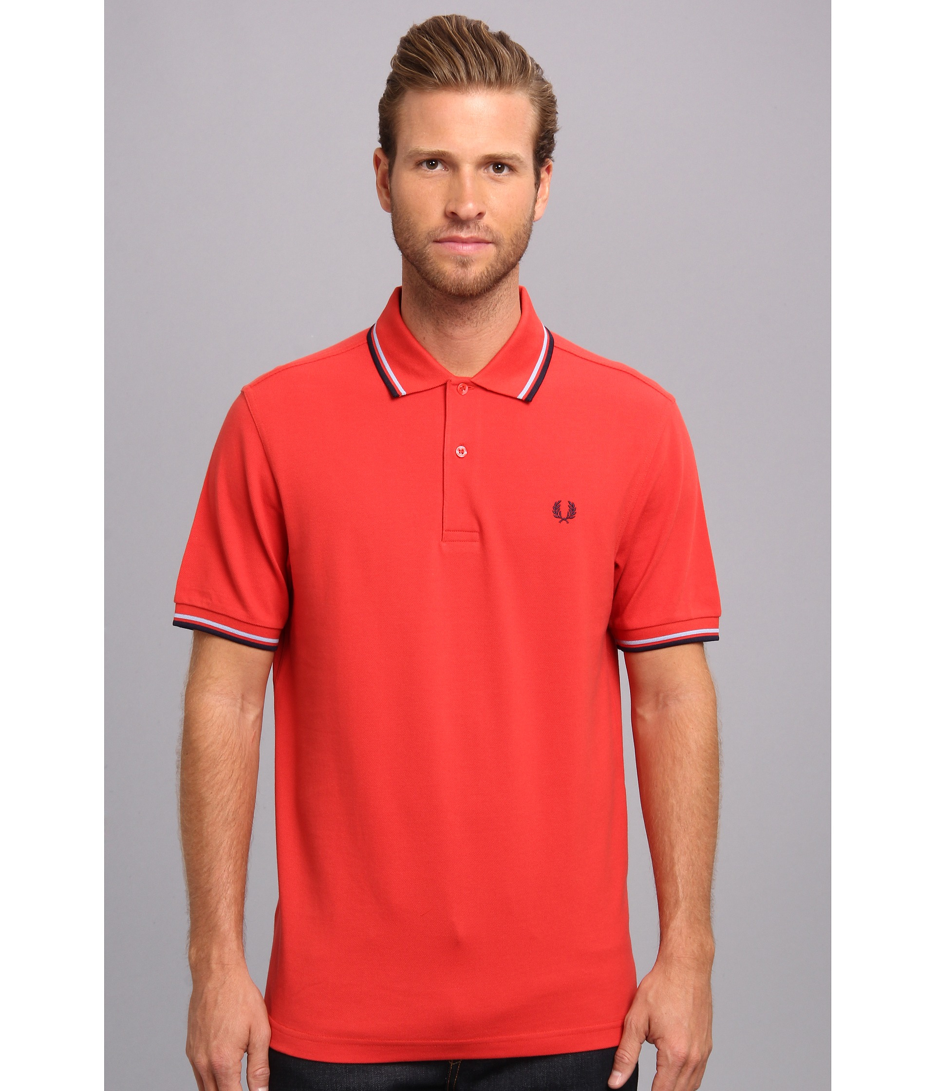 547ce358 Fred Perry Twin Tipped Polo in Red for Men - Lyst