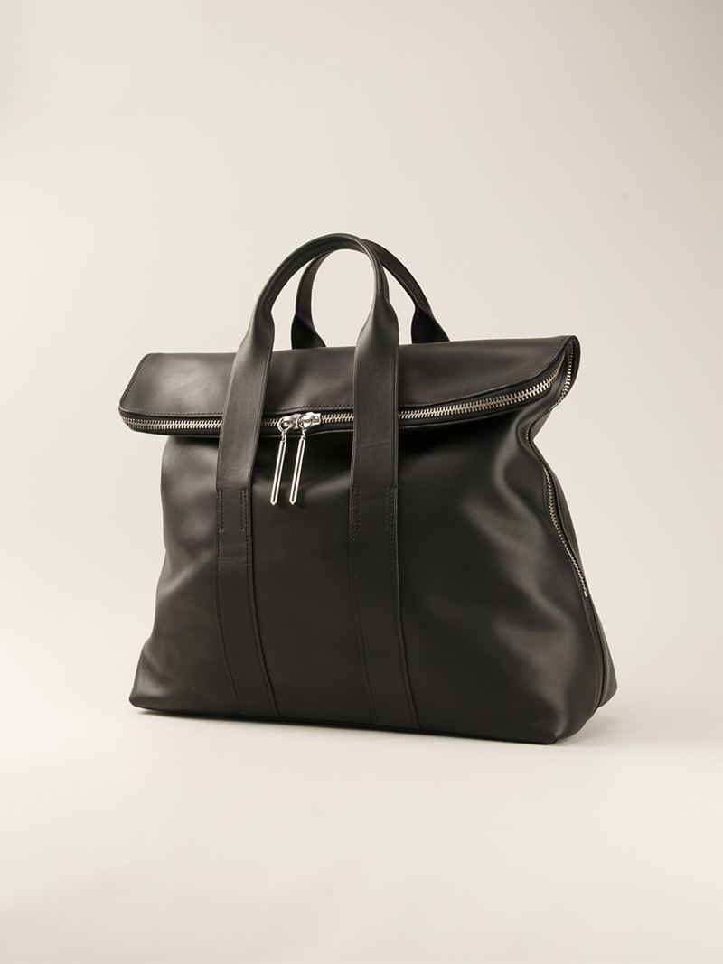 3.1 Phillip Lim Leather '31 Hour' Tote in Black