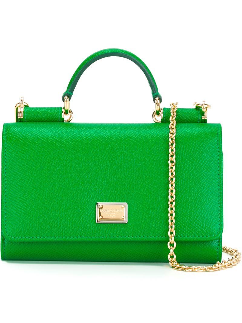 065af04b71cb Lyst - Dolce   Gabbana Mini  von  Wallet Crossbody Bag in Green