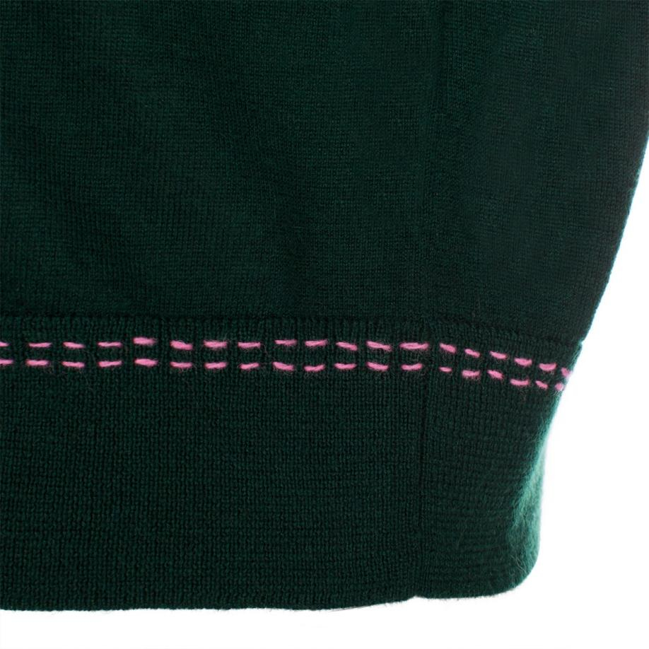 Paul smith Women's Dark Green Cashmere Cardigan in Green | Lyst