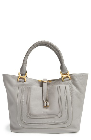 Chlo¨¦ \u0026#39;marcie - New\u0026#39; Leather Tote in Gray (CASHMERE GREY) | Lyst