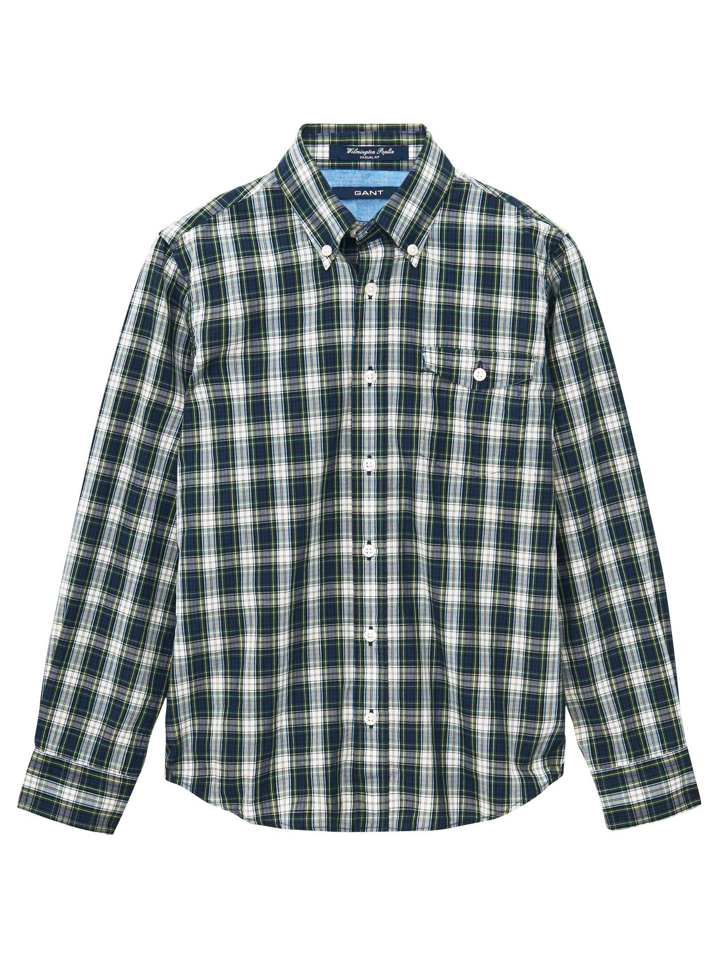 GANT Boys' Archive Check Shirt in Blue for Men