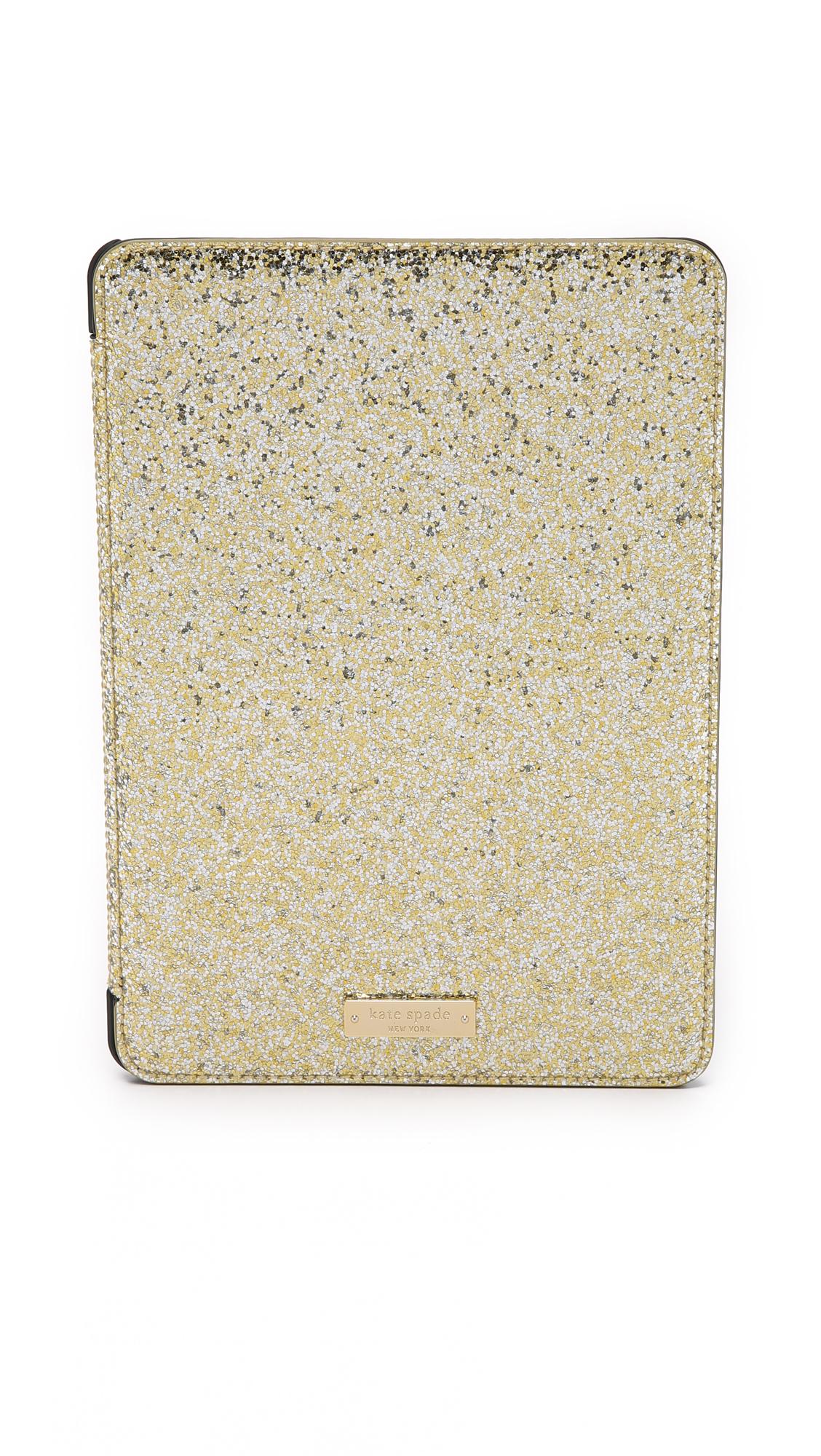 on sale 5c1a5 2cf8b kate spade new york Metallic Glitter Bug Ipad Air 2 Folio Hardcase -  Silver/gold/rose Gold