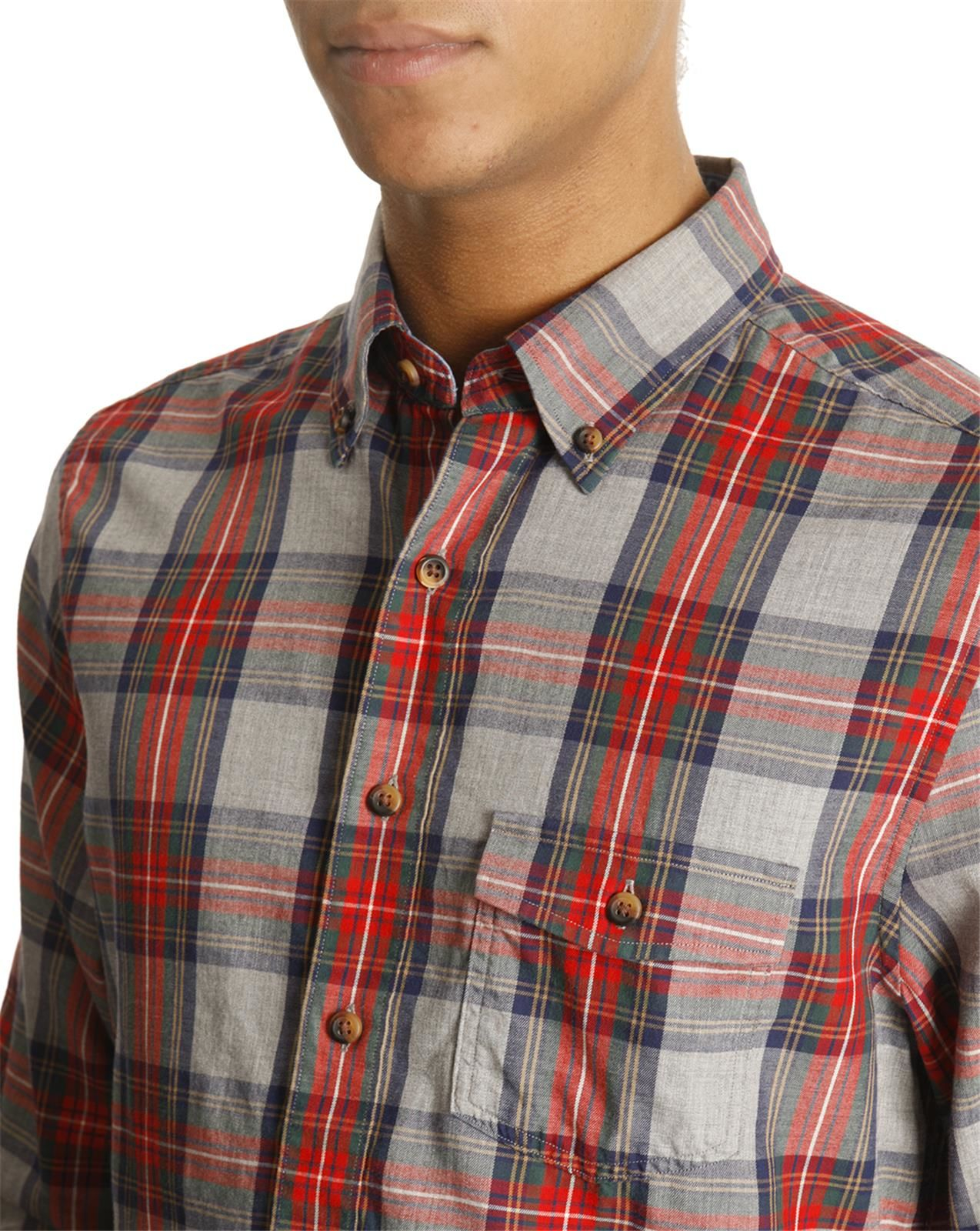 Ralph Lauren Shirt With Madras Check In Red For Men Blue