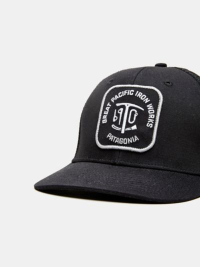 super popular ebe08 84af9 france salty crew hat iron workers trucker c63d1 eae16  shop lyst patagonia  great pacific iron works trucker hat in black for men c4b39 c7c3d