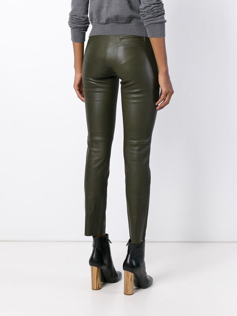 Stouls Leather Trousers In Green Lyst
