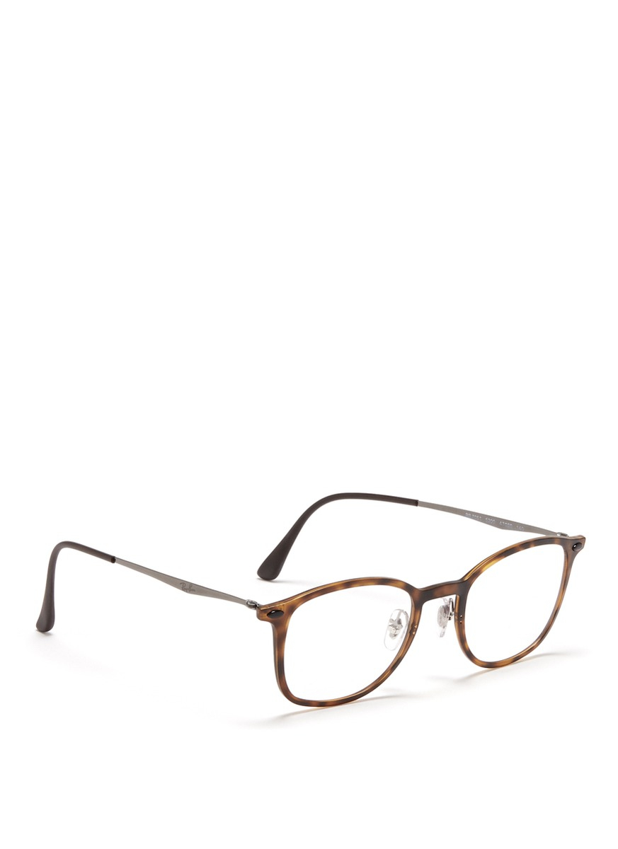 d8aa476e23 Ray-Ban  rb7051 Light Ray  Titanium Temple Round Optical Glasses in ...